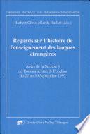 Regards sur l'histoire de l'enseignement des langues étrangères
