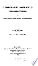Giornale agrario Lombardo - Veneto