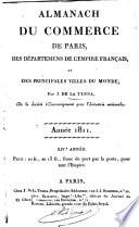 Almanach du commerce de Paris, des départemens de l'empire français et des principales villes du monde