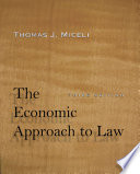 The Economic Approach to Law  Third Edition