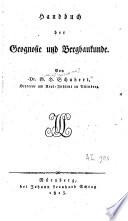 Handbuch der Geognosie und Bergbaukunde  G H  Schubert