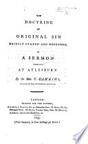 The Doctrine Of Original Sin ... A Sermon [on Psalm Xiv. 2, 3], Etc : ...