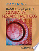 The Sage Encyclopedia of Qualitative Research Methods  A L   Vol  2  M Z Index