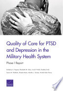Quality Of Care For Ptsd And Depression In The Military Health System