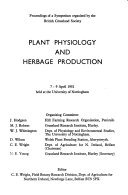 Plant Physiology and Herbage Production
