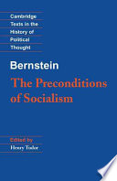 Bernstein  The Preconditions of Socialism