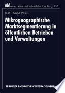 Mikrogeographische Marktsegmentierung in öffentlichen Betrieben und Verwaltungen