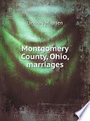 Montgomery County  Ohio  marriages