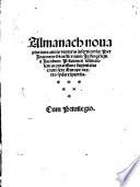 Almanach nova ab a  1493   1531