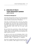 Preaching Like Paul: A Look at His Missionary Sermons
