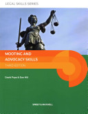 Ebook Mooting and Advocacy Skills Epub David Pope,Dan Hill Apps Read Mobile