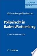 Polizeirecht in Baden-Württemberg