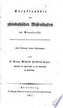 Encyklop  die der philosophischen Wissenschaften im Grundrisse