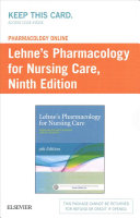 Lehne s Pharmacology Online for Pharmacology for Nursing Care