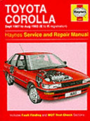 Toyota Corolla 1987 92 Service And Repair Manual