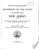 Index of Economic Material in Documents of the States of the United States  New Jersey  1789 1904