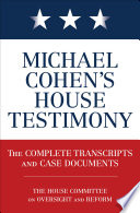 Book Michael Cohen s House Testimony