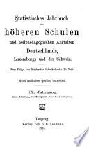 Jahrbuch des höheren Schulwesens