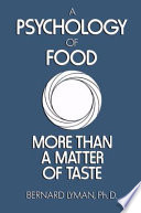 A Psychology of Food