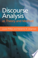 Discourse Analysis as Theory and Method