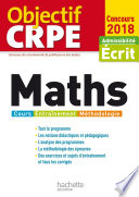 Objectif CRPE Maths   2018