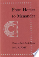 From Homer to Menander