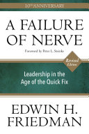 A Failure of Nerve