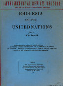 Rhodesia and the United Nations