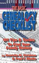 The Basic Genealogy Checklist