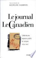 Le journal Le Canadien