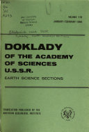 Doklady of the Academy of Sciences of the U S S R