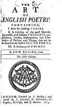 download ebook the art of english poetry pdf epub