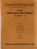Madrasah textbooks from Bangladesh: Dakhil English for today : for classes 9-10