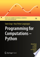 Programming For Computations Python