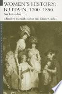 Women s History  Britain 1700   1850