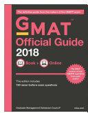 GMAT Official Guide 2018: Book + Online
