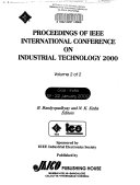 Proceedings of IEEE International Conference on Industrial Technology 2000