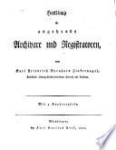 Handbuch für angehende Archivare