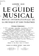Le Guide Musical : ...