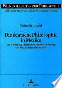 Die deutsche Philosophie in Mexiko