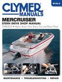 Mercruiser Stern Drive Shop Manual 1998 2013