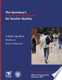 Reference and reporting guide for preparing state and institutional reports on the quality of teacher preparation   Title II  Higher Education Act