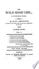 The Wild Irish Girl  A National Tale  3rd  Ed Book PDF