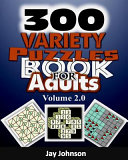 300 Variety Puzzles Book for Adults
