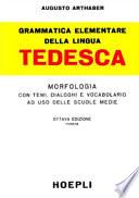 Grammatica elementare della lingua tedesca