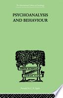 Psychoanalysis And Behaviour