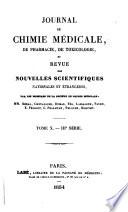 journal de chemie medicale