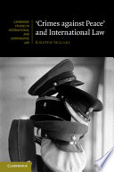 Crimes Against Peace  and International Law