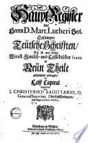 Alle Deutschen B  cher und Schrifften des theuren  seeligen Mannes Gottes  Doctor Martini Lutheri0