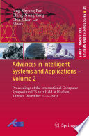 Advances in Intelligent Systems and Applications - Volume 2 Enormously During The Last Two Decades Theoretical